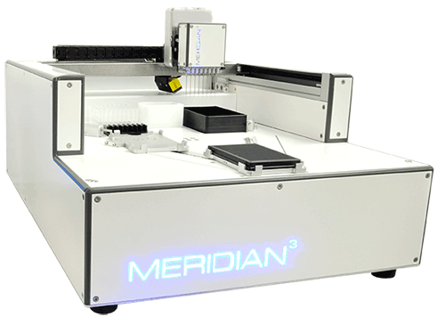 Meridian3 for ultrafast assay mixing and dispensing