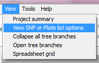 SNPviewer display