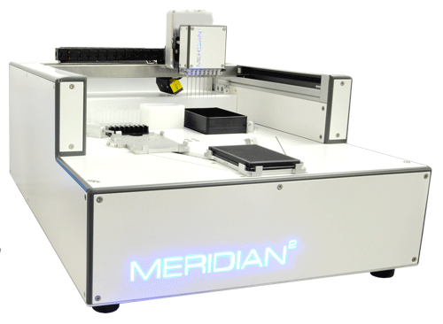 Meridian 2 for ultrafast assay mixing and dispensing